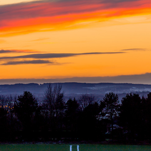 (369) Winter Sunset over West Lothian, R