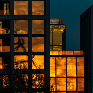 (154) Sunset Reflection of The London Ey