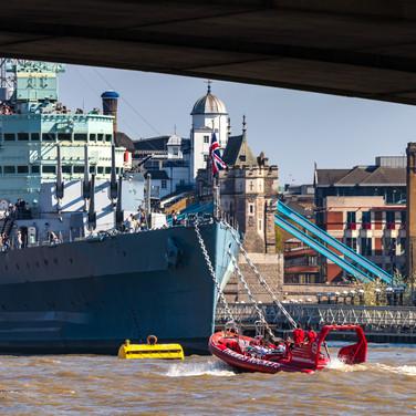 (224) HMS Belfast Royal Navy Light Cruis