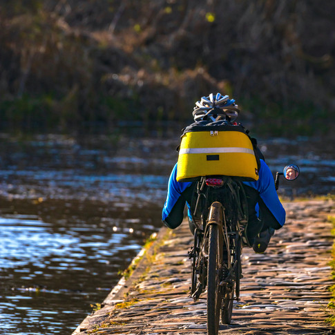 (1398) Cyclist, Lin's Mill Aqueduct, The