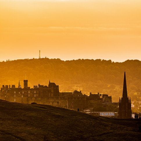 (1163) Edinburgh Castle and The Hub from