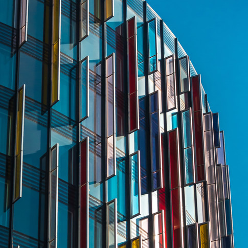 (222) Coloured Panels, Park Plaza Westmi