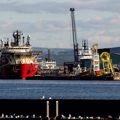 (794) Leith Docks, Albert Dock Basin, Le