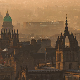 Winter Sun Sets Over St Giles' Cathedral, Edinburgh