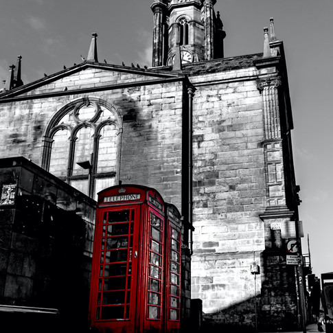 (985) Red Phone Boxes Selective Colour,