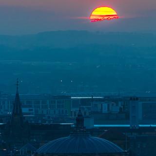 Sunset Over The McEwan Hall, Edinburgh, Scotland