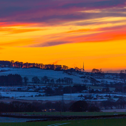 (368) Winter Sunset over West Lothian, S