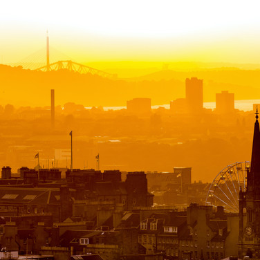 (564) Golden Hour Sunset over the City o