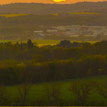 (557) Sunset over West Lothian, Scotland