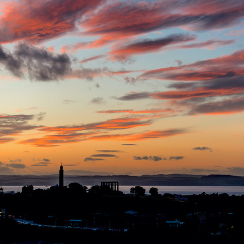 (471) Pink Sunset over Calton Hill and t