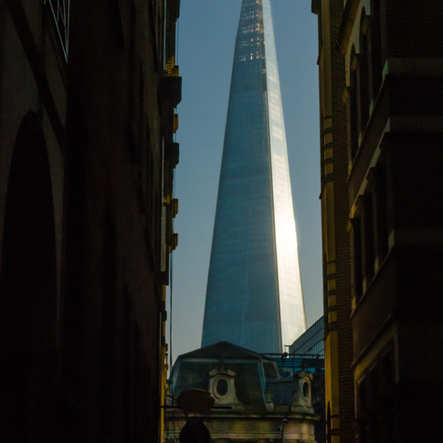 (79) The Shard from Lovat Lane, London,