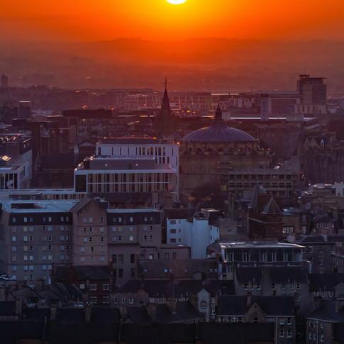 (1336) Orange Sunset Over Edinburgh, Sco