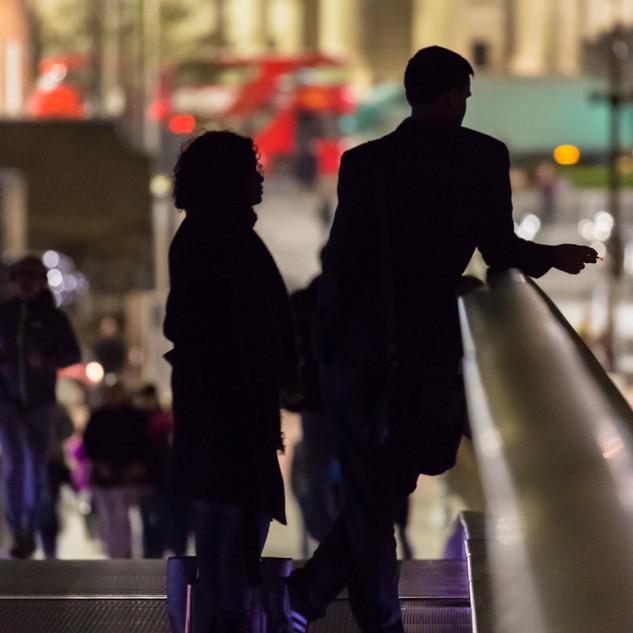 'After Work' Couple on Millennium Bridge, London