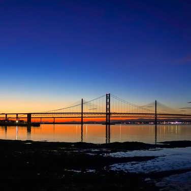 (1047) The Forth Bridges at Sunset, Pano