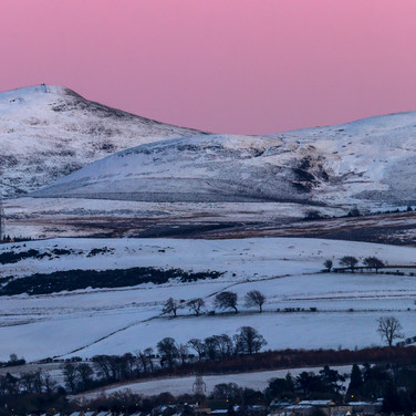 (1338) Pink Sunset Over the Pentland Hil