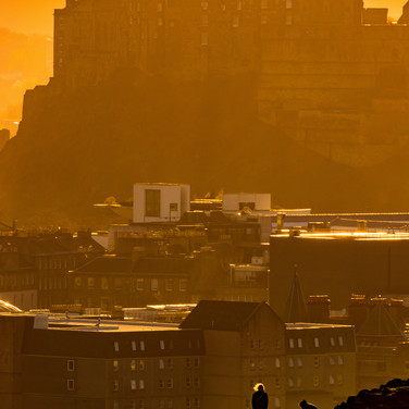 (1091) Golden Hour on Salisbury Crags, A