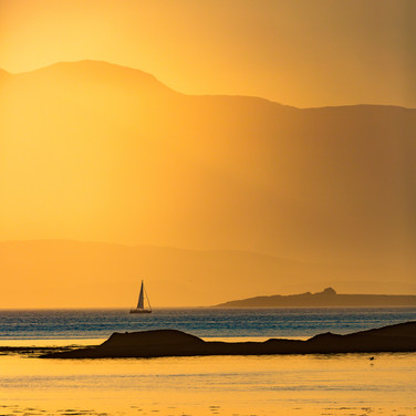 (668) Yachting at Sunset on the Firth of