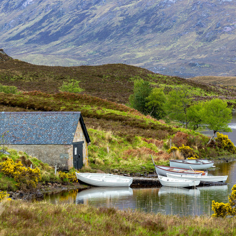 (178) Boathouse on Loch Stack, Laxford B