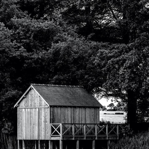 (604) Boathouse, Rivers by Tania Kovats,