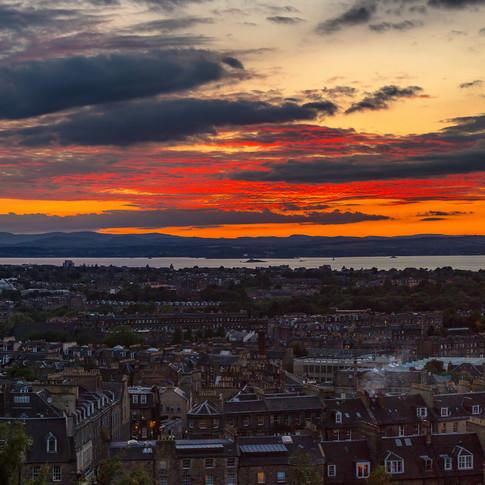 (631) Sunset over Edinburgh and the Firt