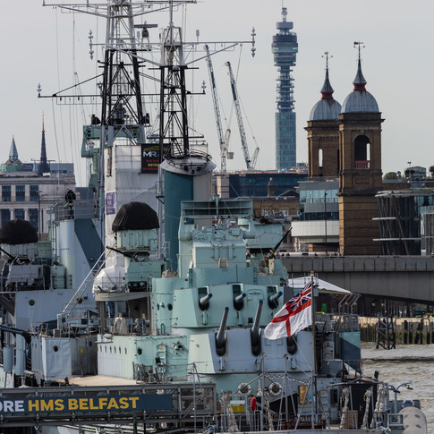 (86) HMS Belfast, The Queen's Walk, Rive