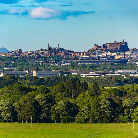 (169) Edinburgh City Skyline from Platt