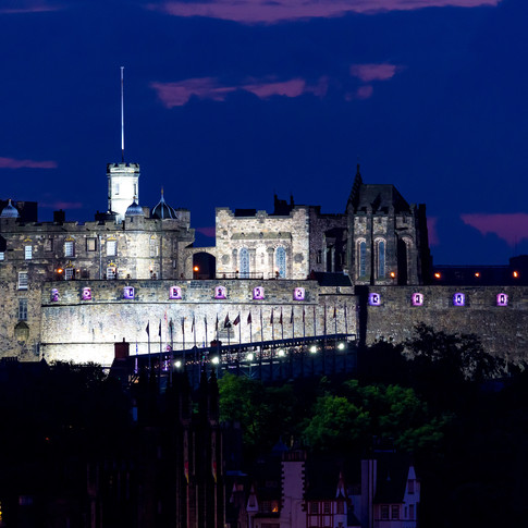 (244) Edinburgh Castle at Dusk, Scotland