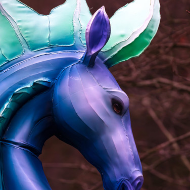 (1294) Purple and Green Mythical Horse L