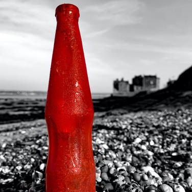 (991) Red Plastic Bottle, Plastic Ain't