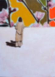 Malerei, Painting, The yellow walk, 110x80cm, Öl auf Leinwand, 2020