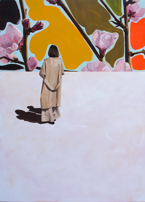 Malerei, Painting, The yellow walk, 110x80cm, Öl auf Leinwand, 2020