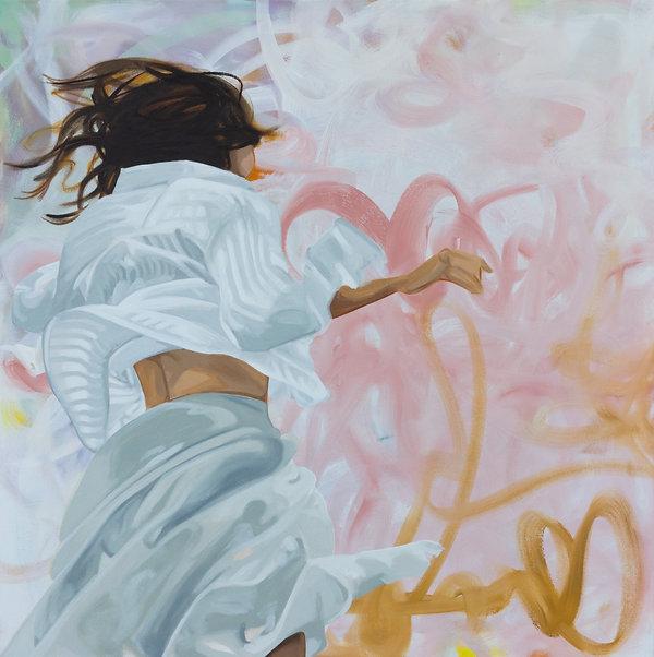 Free Jazz_Öl auf Leinwand, 100x100cm, 20