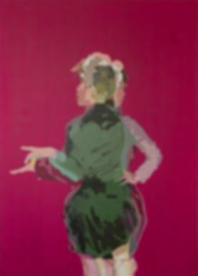 Mary, Malerei pink Woman