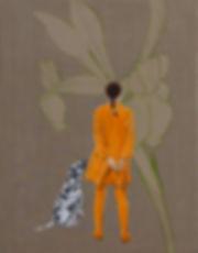 """Malerei, Painting, """"Am Ufer blüh'n die Lilien jetzt"""", 90x70cm, Öl auf Leinwand, 2020"""