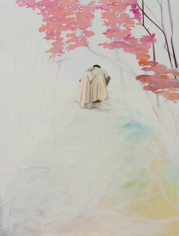 Der Spaziergang, Öl auf Leinwand, 145x11