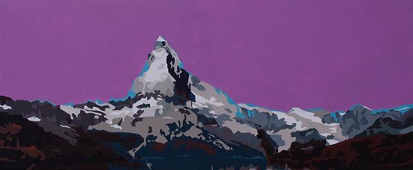Matterhorn_lila2, 75x180, Acryl, 2018.jp