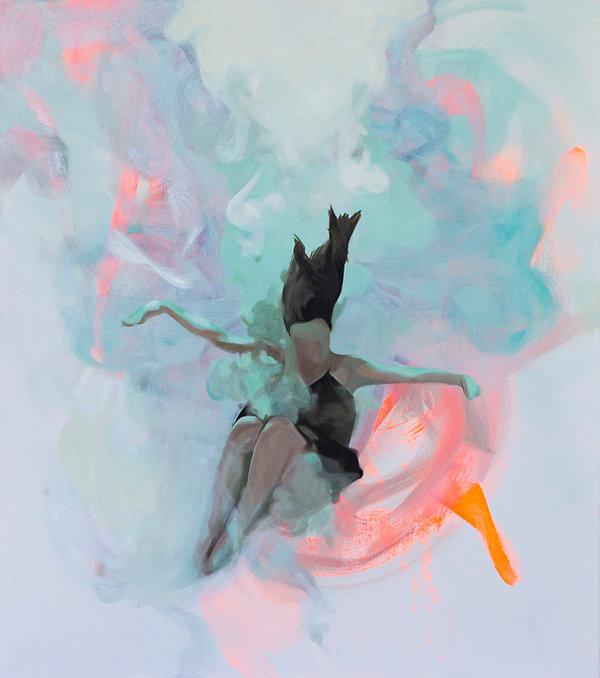 Weightless Malerei Frau unter Wasser
