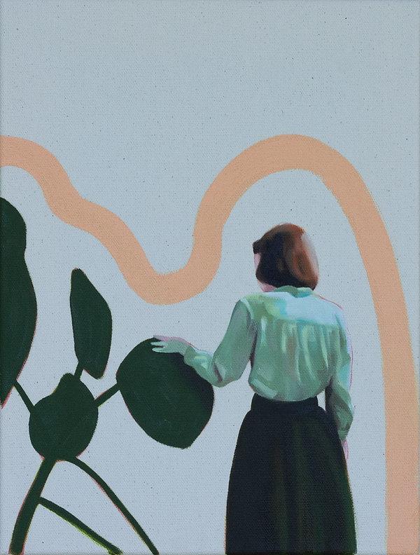 Malerei Painting Woman Nature