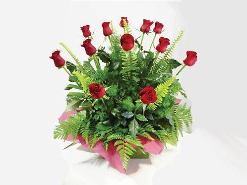 Long Stem Red Roses Arrangement