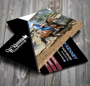 Harley Kenney Horsemanship Business Card