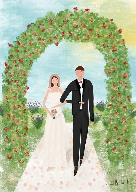Les mariés PERSONNALISABLE