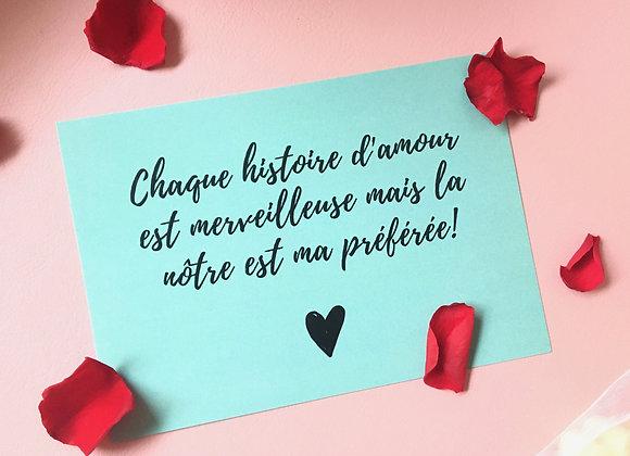 """Carte """"Notre histoire d'amour"""""""