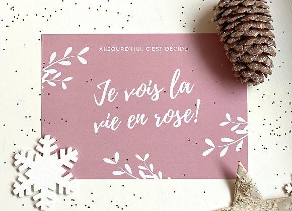 """Carte """"La vie en rose"""""""