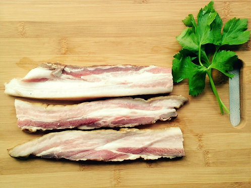 Additive-free bacon thick slice 7 mm (pork belly): Pork Belly Bacon Thick