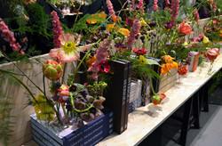 kirjahylly - kukkahylly