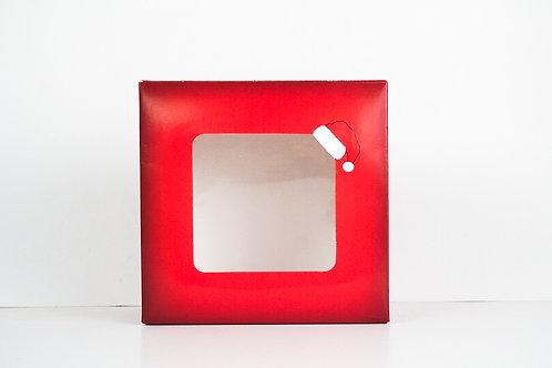 9 x 9 x 3 Naughty or Nice Santa Pre-Formed Box