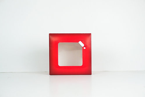 6 x 6 x 3 Naughty or Nice Santa Pre-Formed Box