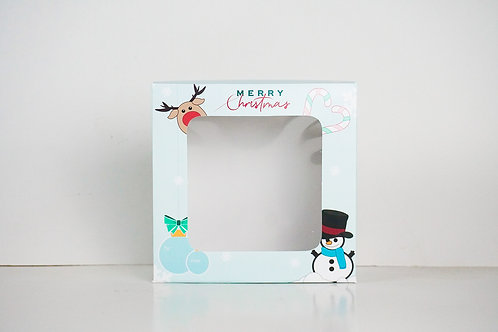9 x 9 x 2 Snowman Pre-Formed Box
