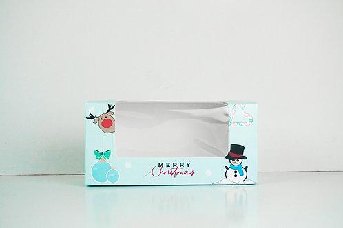 7.375 x 3.5 x 2.75 Snowman Pre-Formed Box