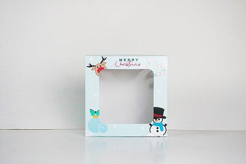 7 x 7 x 3 Snowman Pre-Formed Box